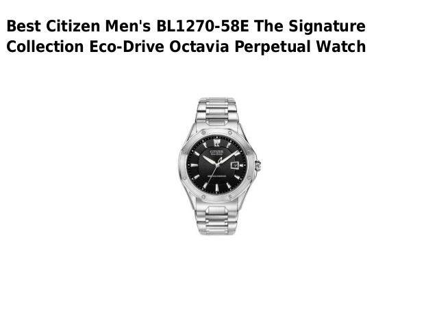 Citizen mens bl1270 58 e the signature collection eco