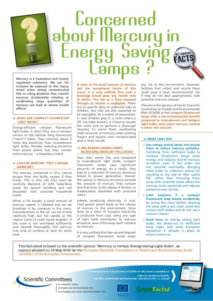 Concerned                           about Mercury in                            Energy Saving                             ...