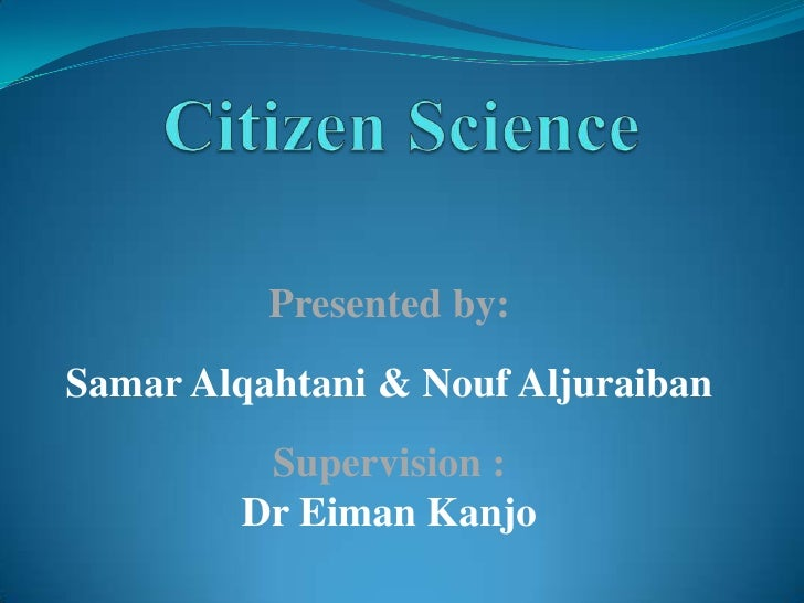 Presented by:Samar Alqahtani & Nouf Aljuraiban         Supervision :        Dr Eiman Kanjo