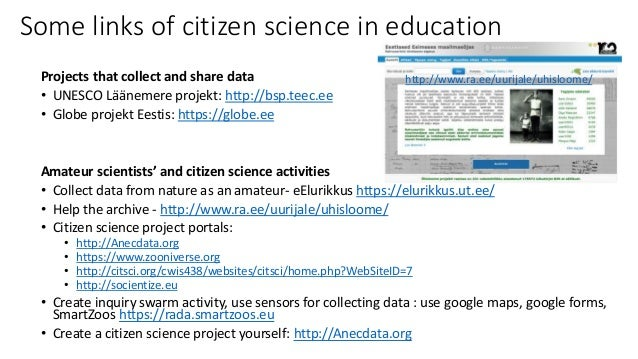 Citizen science in education