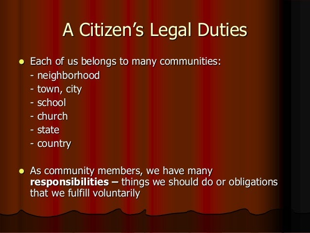 what are the four responsibilities of a us citizen