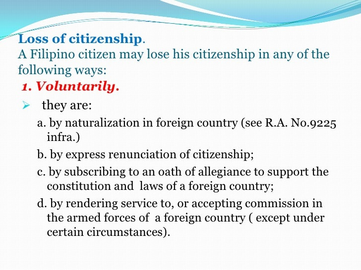 Citizenship and Suffrage