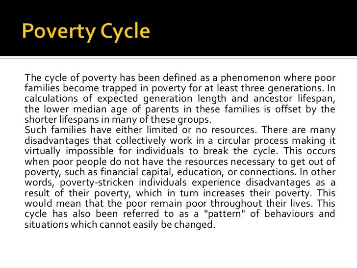 cause of poverty essay I types of causes of poverty a individual poverty is explained by individual  circumstances and/or characterstics of poor people some examples are: amount  of.