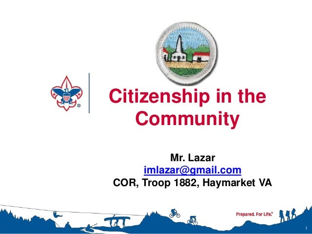 Citizenship in the Community Merit Badge Class Instructor Presentation – Citizenship in the Nation Merit Badge Worksheet