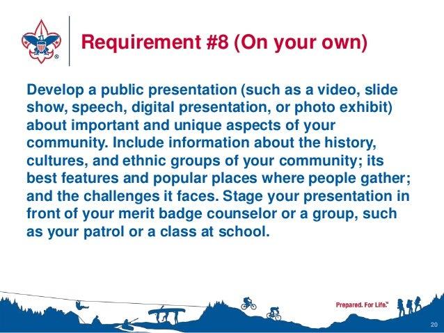 Citizenship in the Community Merit Badge Class Instructor Presentation
