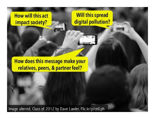 Image altered, Class of 2012 by Dave Lawler, Flic.kr/p/ceiLph Will this spread digital pollution? How will this act impact...