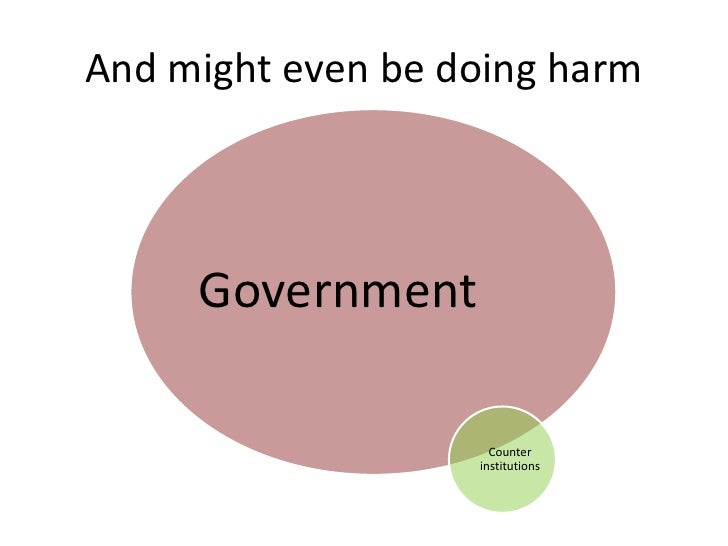 And might even be doing harm     Government                     Counter                   institutions