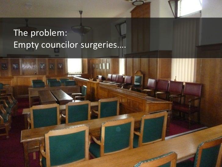The problem: Empty councilor surgeries….