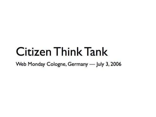 Citizen Think Tank