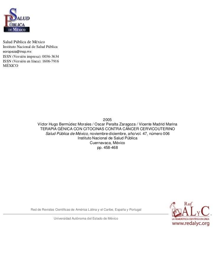 Salud Pública de MéxicoInstituto Nacional de Salud Públicaeoropeza@insp.mxISSN (Versión impresa): 0036-3634ISSN (Versión e...
