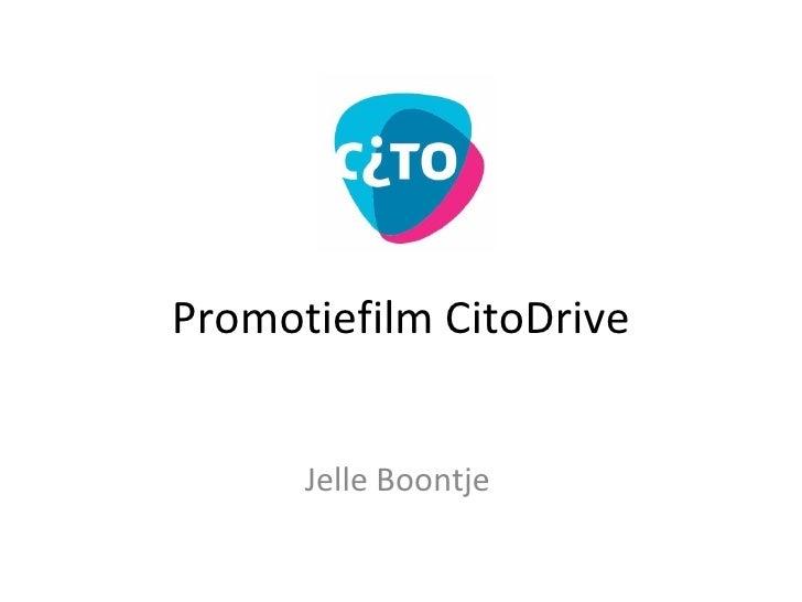 Promotiefilm CitoDrive Jelle Boontje