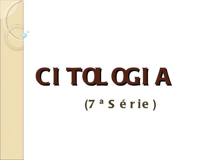 CI TOL OGI A    (7 ª S é r i e )