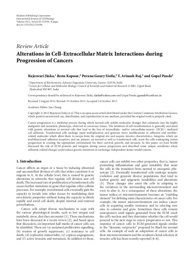 Hindawi Publishing CorporationInternational Journal of Cell BiologyVolume 2012, Article ID 219196, 8 pagesdoi:10.1155/2012...