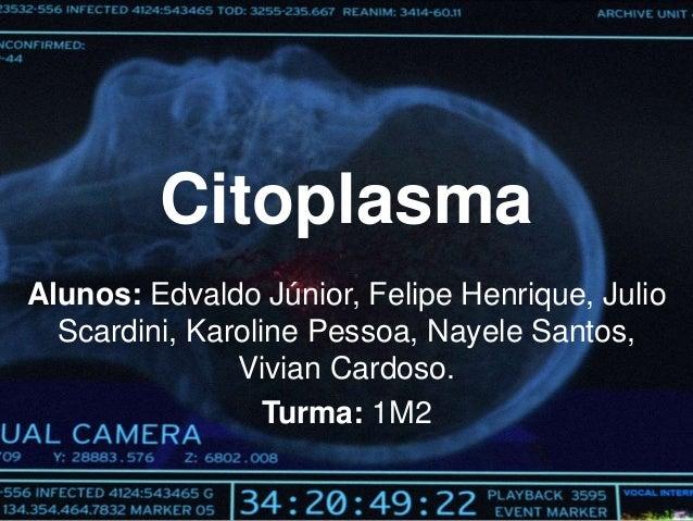 Citoplasma Alunos: Edvaldo Júnior, Felipe Henrique, Julio Scardini, Karoline Pessoa, Nayele Santos, Vivian Cardoso. Turma:...