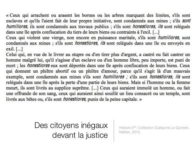 Des citoyens inégaux     Histoire 2de, Collection Guillaume Le Quintrec,                         Nathan, 2010.     devant ...