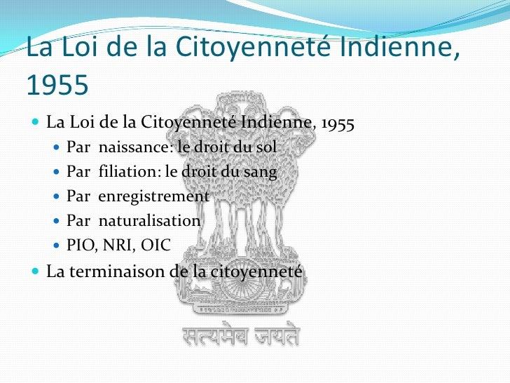 Citoyenneté indienne Slide 2
