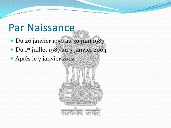 Citoyenneté indienne Slide 3