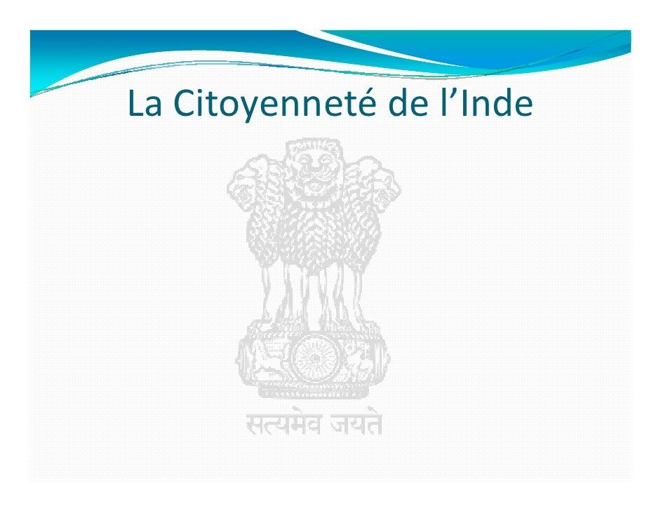 La Citoyenneté de l'Inde