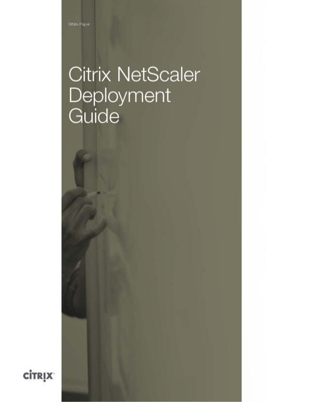 Citrix netscaler-deployment-guide