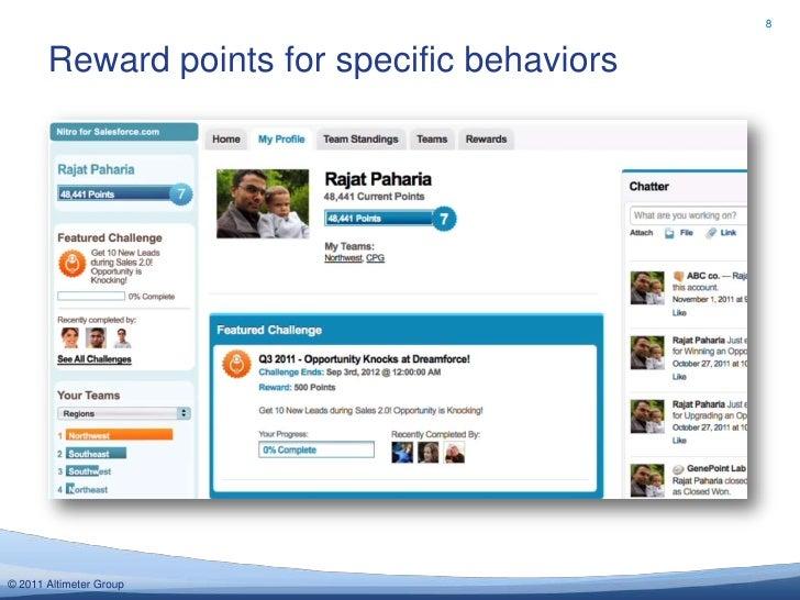 8       Reward points for specific behaviors© 2011 Altimeter Group