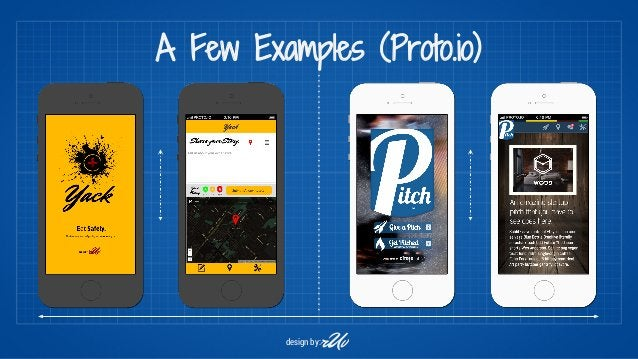 A Few Examples (Proto.io)  design by:r Uv