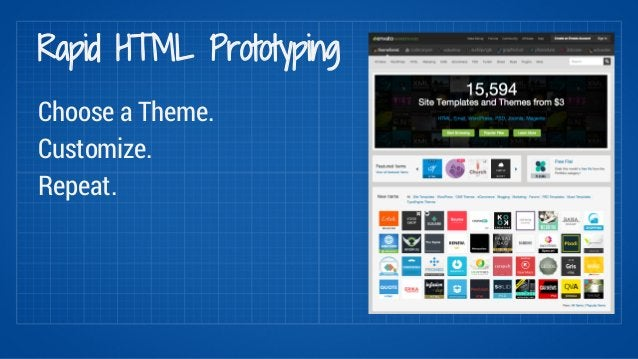 Another Example.  Bootstrap Theme  Customized.
