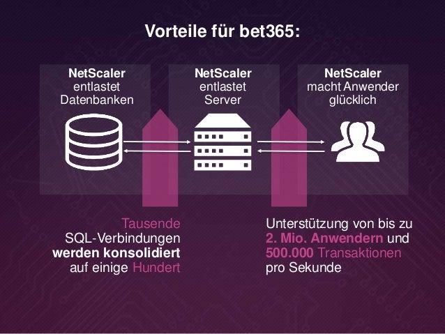 NetScaler entlastet Datenbanken Tausende SQL-Verbindungen werden konsolidiert auf einige Hundert NetScaler entlastet Serve...
