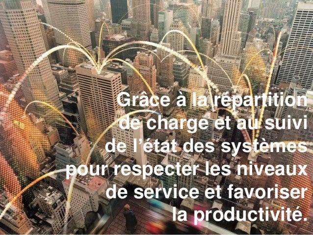 Grâce à la répartition de charge et au suivi de l'état des systèmes pour respecter les niveaux de service et favoriser la ...