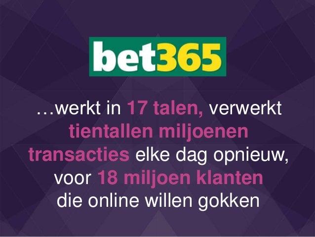 …werkt in 17 talen, verwerkt tientallen miljoenen transacties elke dag opnieuw, voor 18 miljoen klanten die online willen ...