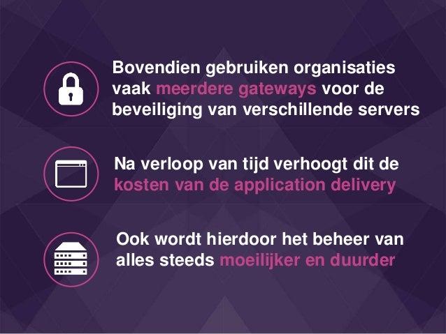 Bovendien gebruiken organisaties vaak meerdere gateways voor de beveiliging van verschillende servers Na verloop van tijd ...