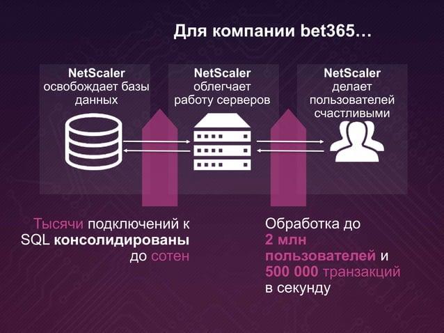 NetScaler освобождает базы данных Тысячи подключений к SQL консолидированы до сотен NetScaler облегчает работу серверов Ne...