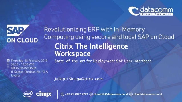 Citrix The Intelligence Workspace and State-of-the-art for SAP