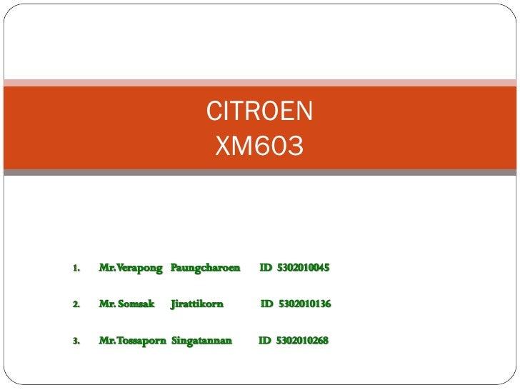 CITROEN XM603