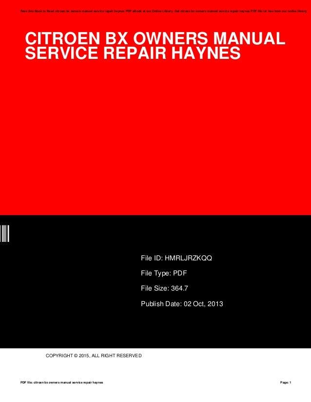 Citroen bx manual torrent array citroen bx owners manual service repair haynes rh slideshare net fandeluxe Images