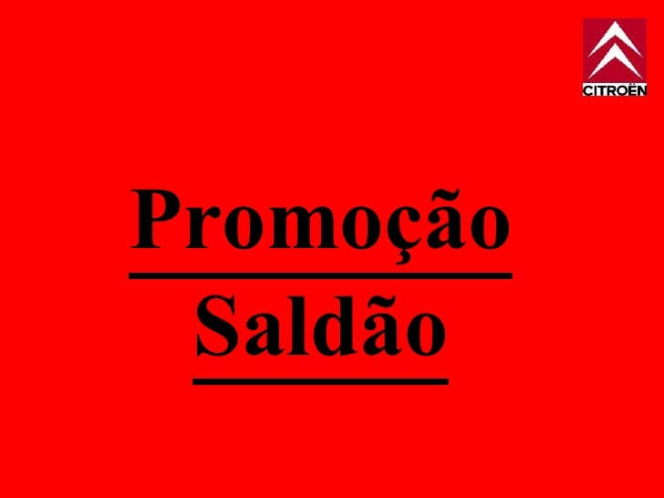 Promoção Saldão