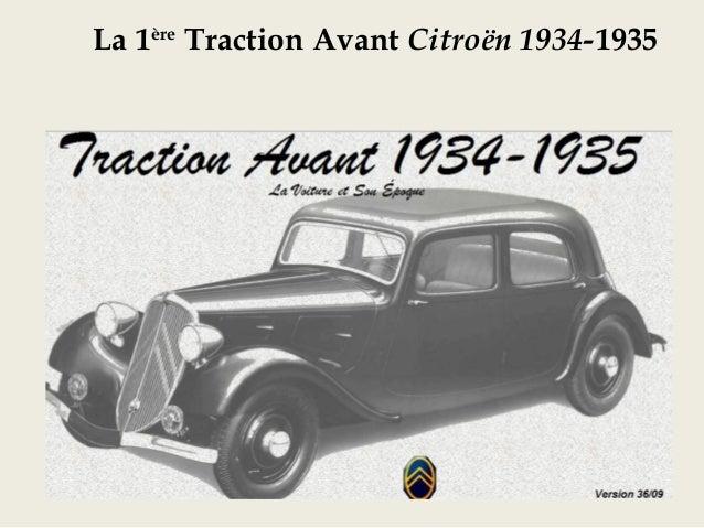 La 1ère Traction Avant Citroën 1934-1935