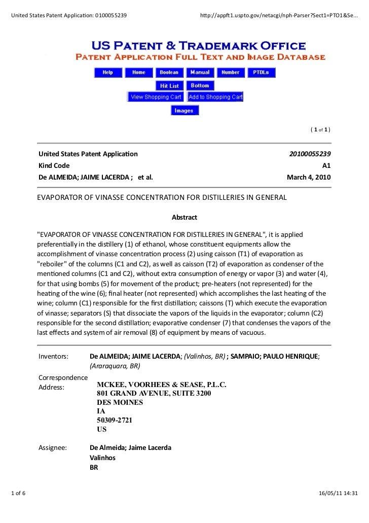 United States Patent Applica0on: 0100055239                                         h:p://app<1.uspto.gov/netacgi/...