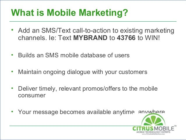 Citrus mobile solutions mobile marketing 2014 5 thecheapjerseys Gallery