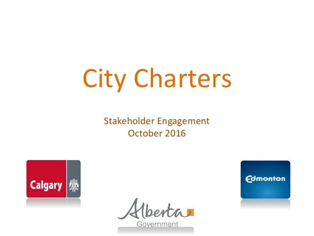 City Charters Stakeholder Engagement October 2016