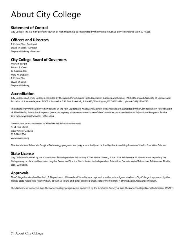 City College Academic Catalog 2014 - 2015