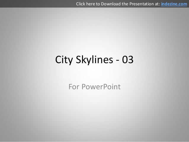 City Skyline Silhouettes for PowerPoint - 03