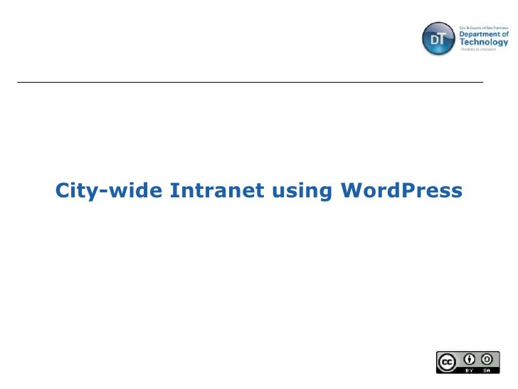 City-wide Intranet using WordPress