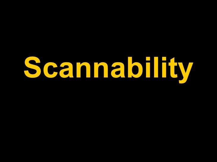 Scannability