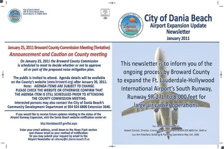 City Airport Advisory Board Newsletter Jan 2011