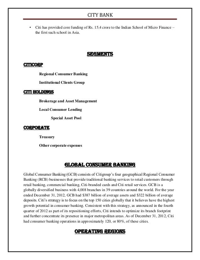 Citibank employee stock options