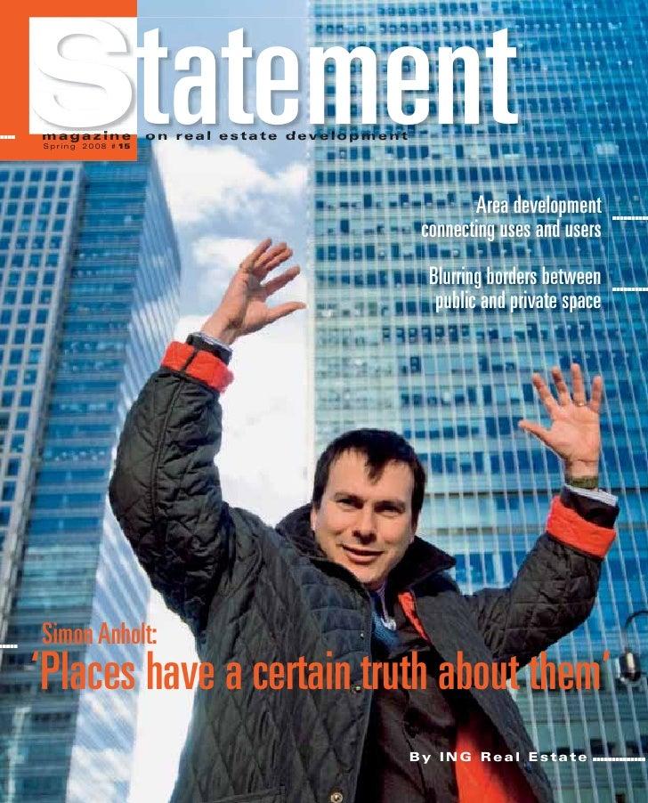 .....   Statement        magazine        Spring 2008 # 15                           o n r e a l e s t a t e d ev e l o p m...