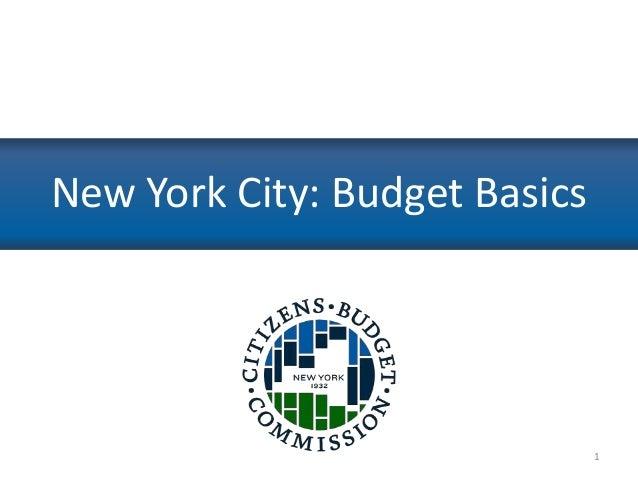 New York City: Budget Basics  1