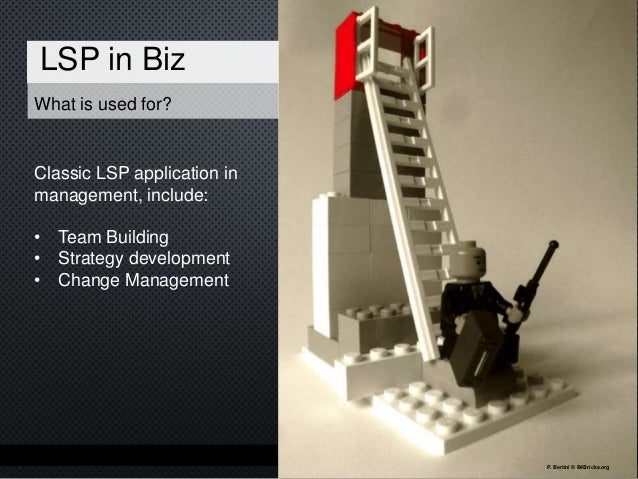 What does LSP do for design LSP in design • Co-creation & participative design • User Requirements with Lego • Idea genera...