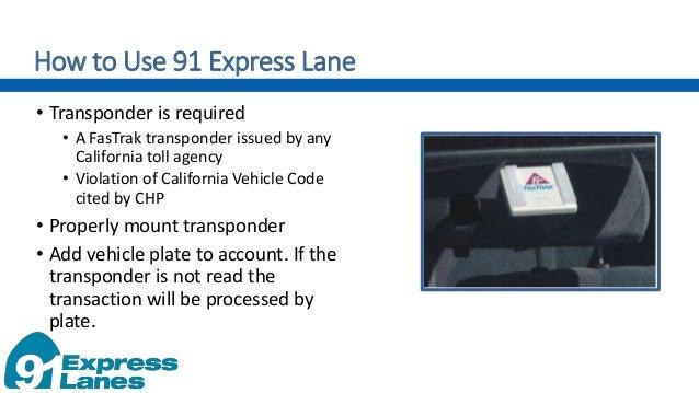 Jan  5, 2017 City Council Presentation:91 Express Lanes