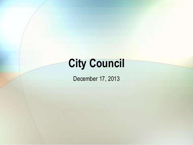 City Council December 17, 2013